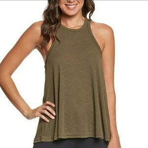 Free People Long Beach Olive Ribbed Tank